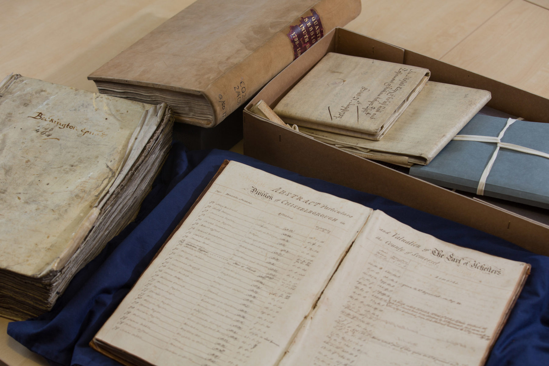 Examples of archives at Somerset Heritage Centre